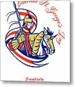 St. George Day Celebration Proud To Be English Retro Poster Metal Print