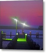 St. Georges Island Dock - Just Before Sunrise Metal Print