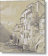 St Giulio Orta Metal Print by Edward Lear