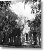 St Helena Chapel Of Ease Bw 2 Metal Print