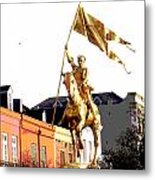 St Joan Of Arc Statue At Dawn Metal Print