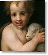 St. John The Baptist With The Lamb Metal Print