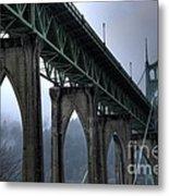 St Johns Bridge Oregon Metal Print