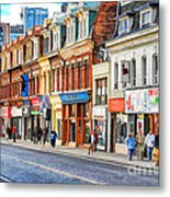 Yonge Street In Toronto Metal Print