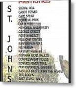St. John's Memories Metal Print