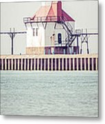 St. Joseph Lighthouse Vertical Panorama Photo Metal Print