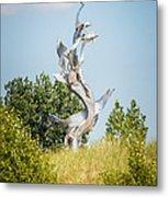 St. Joseph Michigan And You Seas Metal Sculpture Metal Print by Paul Velgos