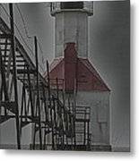 St. Joseph North Pier Lighthouse Lake Michigan Metal Print