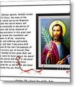 St. Jude Patron Of Hopeless Cases - Prayer - Petition Metal Print by Barbara Griffin