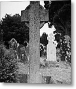 St Kevins Cross High Celtic Cross Grave Stone Glendalough Monastery County Wicklow Republic Of Ireland Metal Print