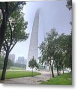 St Louis Arch In Spring Metal Print