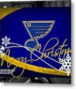 St Louis Blues Christmas Metal Print