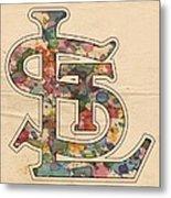 St Louis Cardinals Logo Vintage Metal Print