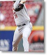 St. Louis Cardinals v Cincinnati Reds Metal Print