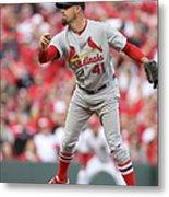 St. Louis Cardinals Vs. Cincinnati Reds Metal Print