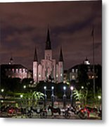 St. Louis Cathedral In Jackson Square Metal Print