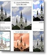 St Louis Cathedral In New Orleans Metal Print