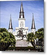 St. Louis Cathedral In New Orleans  Metal Print