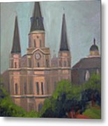 St. Louis Cathedral Metal Print by Lilibeth Andre