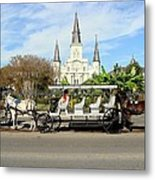 St Louis Cathedral New Orleans Metal Print