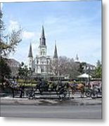 St. Louis Cathedral New Orleans Metal Print