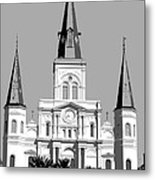 St Louis Cathedral Poster 1 Metal Print