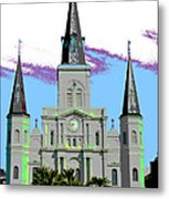 St Louis Cathedral Poster 2 Metal Print