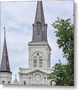 St. Louis Cathedral Through Trees Metal Print