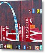 St. Louis Skyline License Plate Art Metal Print