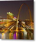 St Louis Skyline With Special Zoom Effect Metal Print