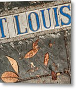 St Louis Street Tiles In New Orleans Metal Print