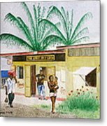 St. Lucia Store Metal Print
