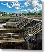 St Lucie Lock And Dam Metal Print by Dan Dennison