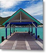 St. Maarten Pier Metal Print
