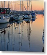 St. Malo Sunrise Brittany France Metal Print
