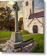St. Marcellas Celtic Cross Metal Print