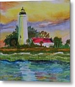 St. Marks Lighthouse-2 Metal Print