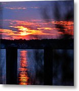 St. Marten River Sunset Metal Print