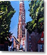 St Martin Old Town Seen From Former Munich Gate Metal Print