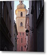 St. Martin's Church Bell Tower In Warsaw Metal Print