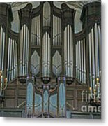 St Martins In The Field Organ Metal Print