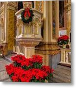 St. Mary Of The Angels Christmas Lectern Metal Print