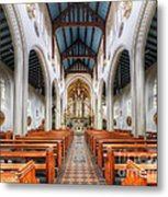 St Mary's Catholic Church - The Nave Metal Print