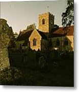 St Marys Church And Ancient Memorial Metal Print