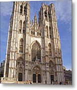 St Michael And St Gudula Cathedral Metal Print