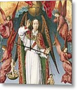 St. Michael Weighing The Souls, From The Last Judgement, C.1445-50 Oil On Panel Detail Of 170072 Metal Print
