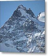 St Mortiz Peaks Metal Print