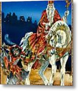 St Nicholas And Dark Peter Metal Print by Lynette Yencho