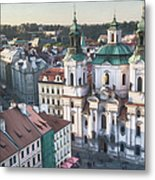 St Nicholas Prague Metal Print