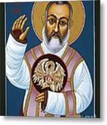 St. Padre Pio Mother Pelican 047 Metal Print